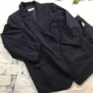 Dark navy sz 22W Bloomingdale's Capri & jacket set
